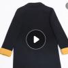 2019秋冬新款手工双面尼外套欧美气质英伦西装羊毛大衣女一件代发