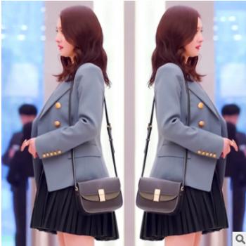 谈判官杨幂童薇同款 小西装女长袖短款 韩版修身显瘦春秋休闲外套