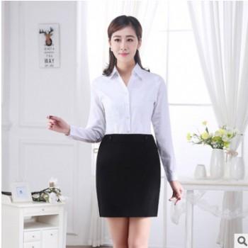 2018职业女装新款衬衫 修身弹力OL通勤打底衬衫工服修身职业装