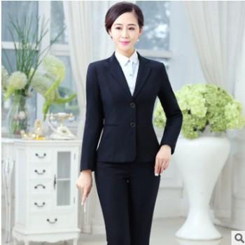 厂家直销新款女职业装 时尚女装西服套装 修身显瘦女职业装