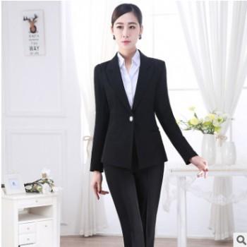 2018新款时尚职业套装 修身显瘦时尚职业套装白领上班族职业套装
