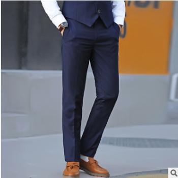 2019四季新款休闲裤男士修身弹力直筒裤商务正装青年时尚男式西裤
