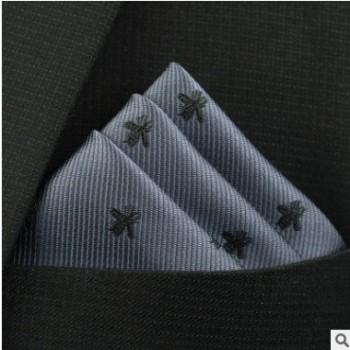 实力商家小方巾批发定做口袋巾蜜蜂男士时尚百搭潮西装手帕胸巾40