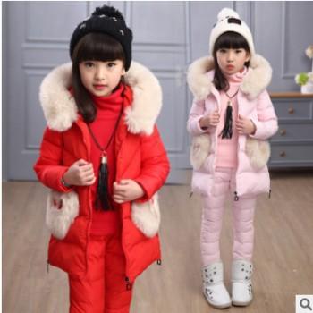 品牌童装女童秋冬套装2018儿童大卫衣三件套5-12岁女童马甲卫衣