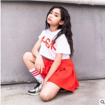 男童街舞服装男孩hiphop衣服潮秋季宽松长袖卫衣迷彩儿童嘻哈套装