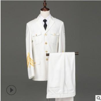 白色男士保安制服春秋形象服物业门卫礼宾2019新款厂家定制套装