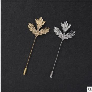欧美复古金色枫叶胸针 雕刻玫瑰花树叶女士围巾别针男士雄鹰领针