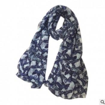 最新款彩印秋冬长款女士围巾 大披巾 巴里纱长巾加大数码印