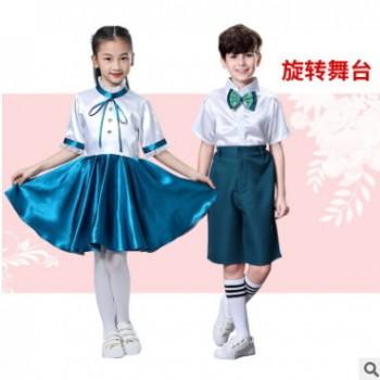 儿童合唱服装大合唱团男女诗歌朗诵礼服蓬蓬裙中小学生表演出服装