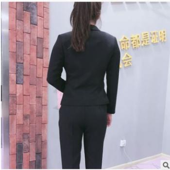2019春季新款职业女装套装毕业照上班面试经理服女士正装西装