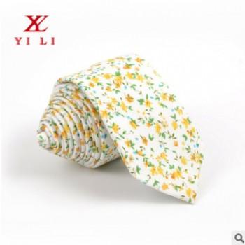 新款小清新日系碎花女士棉质领带