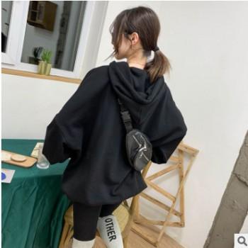 新款韩版秋冬新款卫衣女装纯色连帽卫衣女宽松上衣潮厂家直销