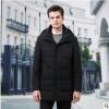 百娇龙2019冬季新款商务休闲时尚中长版中厚可脱卸帽羽绒服外套