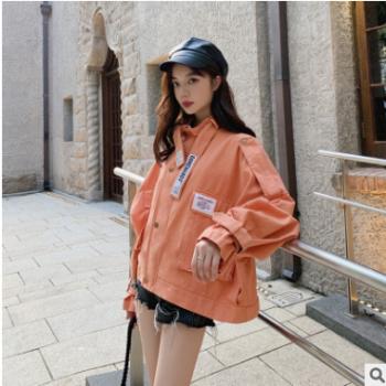 短款时尚森系宽松百搭学生bf风衣潮2019春秋季韩版新款工装外套女