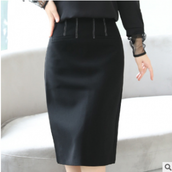 衣中仙2019秋季新款女装气质显瘦个性百搭优雅中长裙高腰半身裙