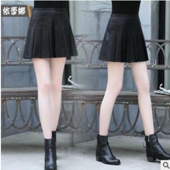 依蕾娜2019秋季新款女装个性优雅中腰气质街头自然腰中裙半身裙