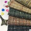 粗纺顺毛格子化纤花式梭织毛呢面料 经典时尚秋冬装美观面料定制