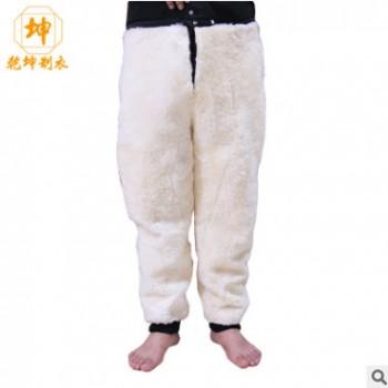 冬外穿中老年皮毛一体男女羊皮裤子羊剪绒内胆宽松保暖羊羔绒棉裤