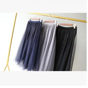 两件包邮~仙女衣橱必备 2019 INS超火网纱半身裙090220