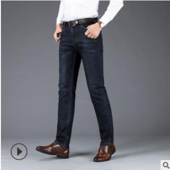 厂家批发 19年秋冬款中年大版牛仔裤男 男士弹力牛仔裤男式长裤