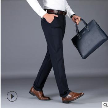 现货批发一件代发 春季修身弹力黑色男士休闲裤 青年韩版西裤