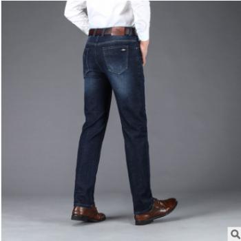 厂家批发 19年秋冬款中年直筒弹力男士牛仔裤 中年男式商务牛仔裤