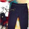 现货厂家批发2019腰间珠链黑色小西裤长裤女 设计感裤子女装