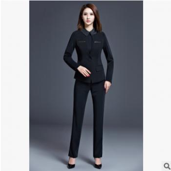 春秋冬季气质职业装女装套装套裤长袖商务正装西装工作服三件套