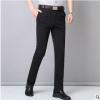 新款休闲裤西裤男裤针织弹力直通修身弹力舒适长裤子