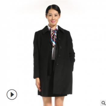 工厂订制新款毛呢大衣定制 商务团体外套定做厂家冬季保暖加厚