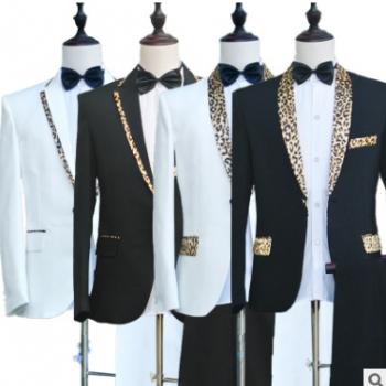 男士休闲修身西装大合唱团表演服装舞台主持演出服新郎结婚礼服