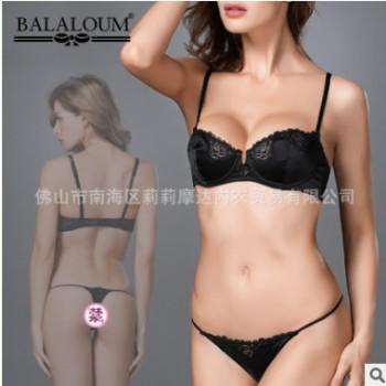 厂家批发原单外贸欧美文胸性感蕾丝薄款女士内衣胸罩套装UT9008-2