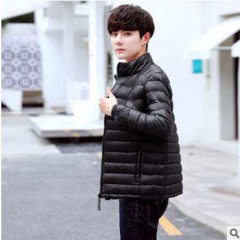 厂家直销冬季男士棉服轻薄中青年短款休闲棉袄新款大码立领男外套
