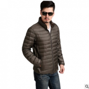 冬季男士棉服轻薄中青年短款休闲保暖棉袄新款大码修身立领男外套