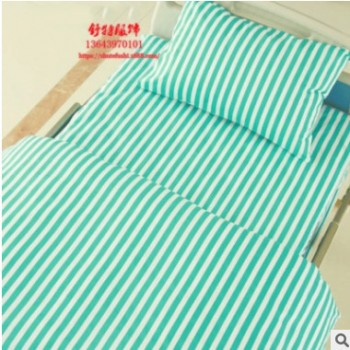 厂家定做医院医用床上用品三件套医护病床涤棉纯棉床单被套