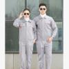 2019精缝线包边秋冬厚浅灰色细反光条工装厂服工作服BFTL8552