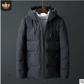 棉衣男士外套冬季2018新款潮流韩版衣服短款连帽帅气棉袄男装棉服
