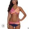 2020欧美外贸泳衣 女士性感比基尼 条纹时尚游泳衣bikini厂家