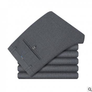 厂家定制多品种面料西装裤 供应新款男式微弹免烫商务正装西装裤