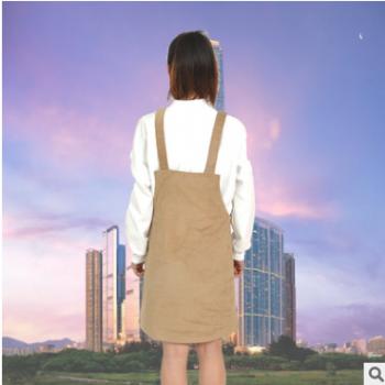 2017年优雅包臀半身裙时尚修身磨毛棉背带裙秋冬高腰吊带打底中裙
