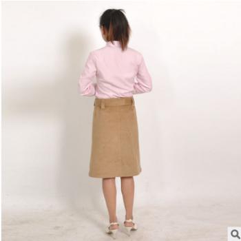 职业装2018新款带翻领长袖衬衫 包臀一字步短裙 女性半身裙套装
