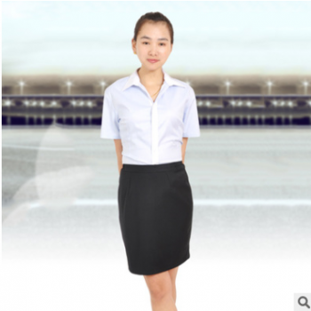 艾毅职业女短袖2017新款夏季上衣韩范修身大码正装ol气质衬衫