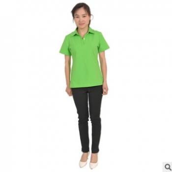 厂家供应女装短袖T恤女夏装韩版运动修身带领Polo上衣 直销批发