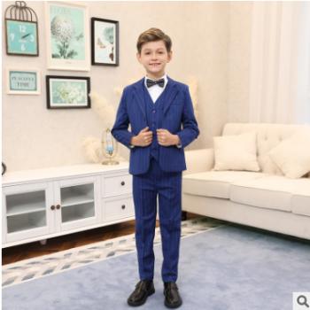 儿童小西装套装花童外套主持人男孩礼服大童宝宝男童西服三件套
