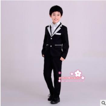 韩版儿童小西装套装花童外套主持人男孩礼服大童宝宝男童西服小孩