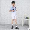 【夏季套装男】2019夏季新款大童短款男童套装英伦范修身男童套装