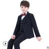 儿童西装套装男童西服花童礼服小男孩宝宝钢琴演出四件套韩版春秋