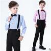 男童背带裤套装宝宝钢琴演出服主持人表演小学生儿童花童礼服新款