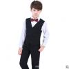 儿童马甲套装男童小礼服中大童花童礼服小孩钢琴演出服外套春