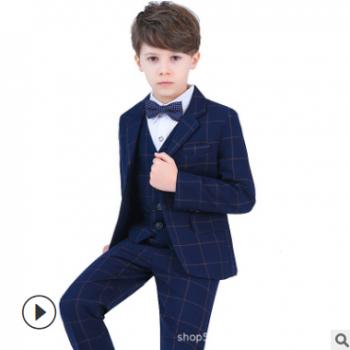 儿童西装套装春款 花童礼服男韩版童装礼服男童小西服 宝宝西装